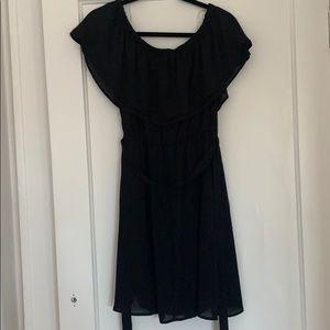 Short no shoulder dress
